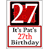 PERSONALIZED 27 YEAR OLD YARD SIGN PARTY SUPPLIES