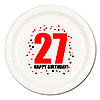 27TH BIRTHDAY DINNER PLATE 8-PKG PARTY SUPPLIES