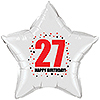 27TH BIRTHDAY STAR BALLOON PARTY SUPPLIES
