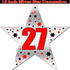 27TH SILVER STAR DECORATION PARTY SUPPLIES