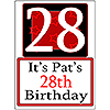 PERSONALIZED 28 YEAR OLD YARD SIGN PARTY SUPPLIES