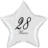 28 YEARS CLASSY BLACK STAR BALLOON PARTY SUPPLIES