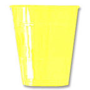 Click for larger picture of 12OZ LT YELLOW PLASTIC CUP (20 CT.) PARTY SUPPLIES