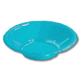 Click for larger picture of 12OZ BERMUDA BLUE PLASTIC BOWL (20 CT.) PARTY SUPPLIES