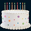 COLORFLAME BIRTHDAY CANDLES (12/PKG) PARTY SUPPLIES