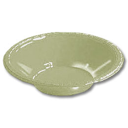 Click for larger picture of 12OZ SAGE GREEN PLASTIC BOWL (20 CT.) PARTY SUPPLIES