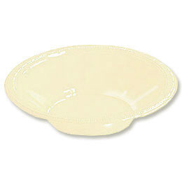 Click for larger picture of IVORY 12OZ PLASTIC BOWL (240/CS) PARTY SUPPLIES