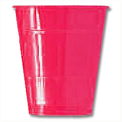 Click for larger picture of HOT PINK 16OZ PLASTIC CUP (240/CS) PARTY SUPPLIES