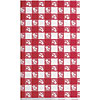 RED GINGHAM 54X108 PAPER TBLCVR (12/CS) PARTY SUPPLIES