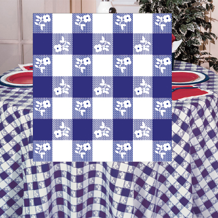 BLUE GINGHAM 84IN. ROUND PLASTIC TABLCOV PARTY SUPPLIES & oktoberfest party tableware - blue gingham dinnerware