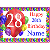 28TH BALLOON BLAST CUSTOMIZED PLACEMAT PARTY SUPPLIES