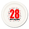 28TH BIRTHDAY DINNER PLATE 8-PKG PARTY SUPPLIES
