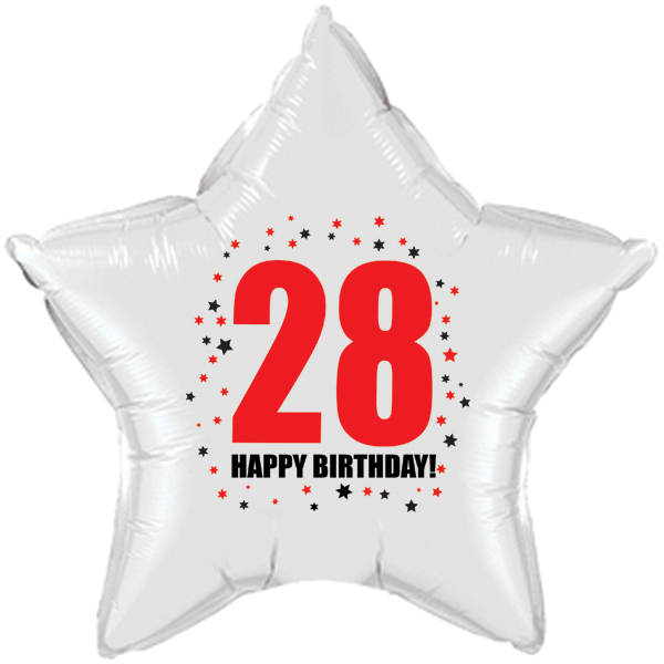 Click for larger picture of 28TH BIRTHDAY STAR BALLOON PARTY SUPPLIES