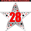 28TH SILVER STAR DECORATION PARTY SUPPLIES