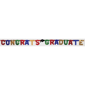 Click for larger picture of 8IN. CONGRATS GRD JOINTED BANNER (12/CS) PARTY SUPPLIES
