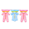 BABY CLOTHES FLAG BANNER PARTY SUPPLIES