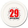 29TH BIRTHDAY DINNER PLATE 8-PKG PARTY SUPPLIES