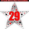 29TH SILVER STAR DECORATION PARTY SUPPLIES