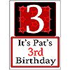 PERSONALIZED 3 YEAR OLD YARD SIGN PARTY SUPPLIES