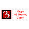 PERSONALIZED  3 YEAR OLD BANNER PARTY SUPPLIES