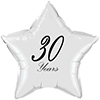 30 YEARS CLASSY BLACK STAR BALLOON PARTY SUPPLIES