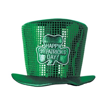 Click for larger picture of DISCONTINUED GLITZ N GLEAM LEPRECHN HAT PARTY SUPPLIES