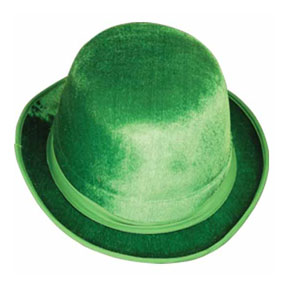 Click for larger picture of VEL-FELT GREEN DERBY PARTY SUPPLIES