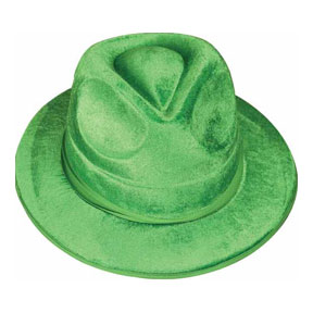 Click for larger picture of VEL-FELT GREEN FEDORA PARTY SUPPLIES