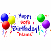 PERSONALIZED 30TH BIRTHDAY BANNER PARTY SUPPLIES