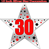 30TH SILVER STAR DECORATION PARTY SUPPLIES