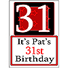 PERSONALIZED 31 YEAR OLD YARD SIGN PARTY SUPPLIES