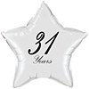 31 YEARS CLASSY BLACK STAR BALLOON PARTY SUPPLIES