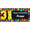 BALLOON 31ST BIRTHDAY CUSTOMIZED BANNER PARTY SUPPLIES