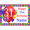 31ST BALLOON BLAST CUSTOMIZED PLACEMAT PARTY SUPPLIES