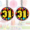31ST BIRTHDAY BALLOON DANGLER PARTY SUPPLIES
