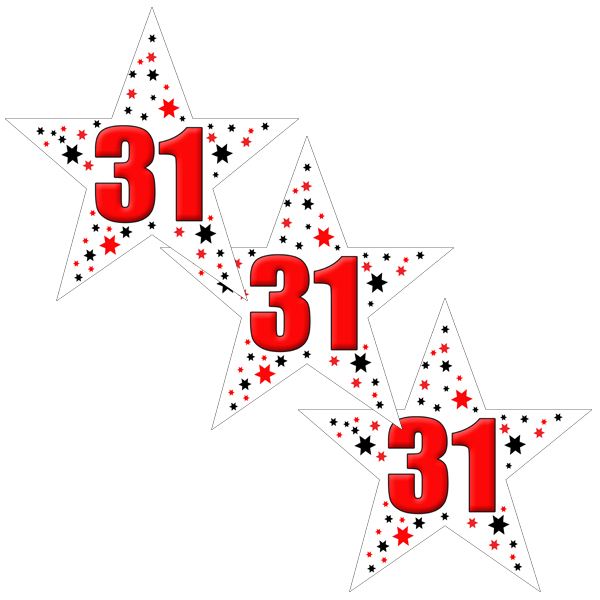31ST BIRTHDAY STAR DECO FETTI PARTY SUPPLIES