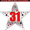 31ST SILVER STAR DECORATION PARTY SUPPLIES