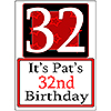 PERSONALIZED 32 YEAR OLD YARD SIGN PARTY SUPPLIES