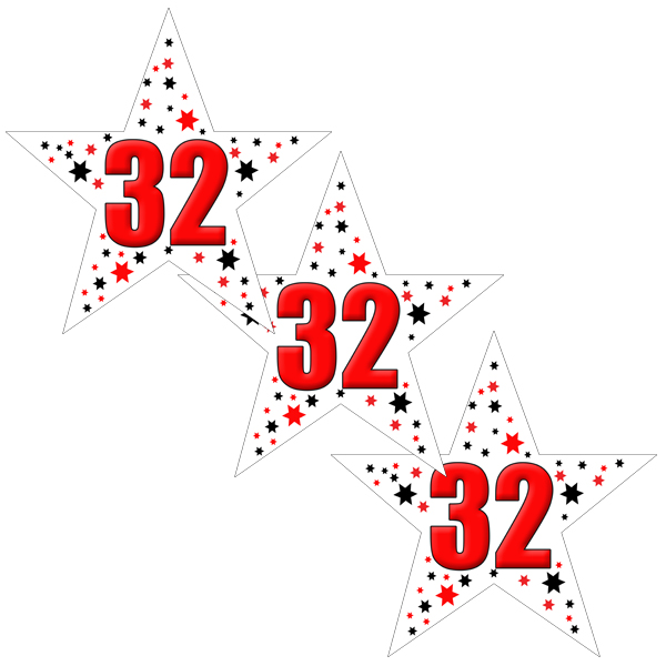 32ND BIRTHDAY STAR DECO FETTI PARTY SUPPLIES