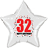 32ND BIRTHDAY STAR BALLOON PARTY SUPPLIES