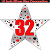 32ND SILVER STAR DECORATION PARTY SUPPLIES
