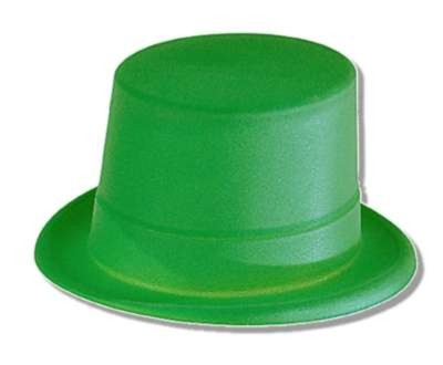 Click for larger picture of DISCONTINUED TOP HAT GREEN VELOUR PARTY SUPPLIES