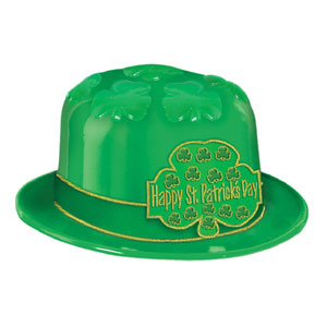 Click for larger picture of ST. PATRICK DAY SHAMROCK DERBY (25/CASE) PARTY SUPPLIES