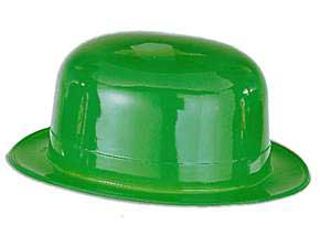 Click for larger picture of GREEN PLASTIC DERBY PARTY SUPPLIES