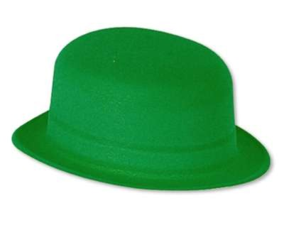 Click for larger picture of GREEN VELOUR DERBY (PLASTIC BACKED) PARTY SUPPLIES