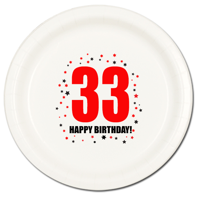 Click for larger picture of 33RD BIRTHDAY DINNER PLATE 8-PKG PARTY SUPPLIES  sc 1 st  Party Supplies & 33 happy birthday party supplies - 33rd birthday dinner plate 8pkg