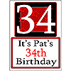 PERSONALIZED 34 YEAR OLD YARD SIGN PARTY SUPPLIES