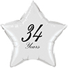 34 YEARS CLASSY BLACK STAR BALLOON PARTY SUPPLIES