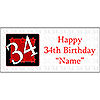PERSONALIZED 34 YEAR OLD BANNER PARTY SUPPLIES