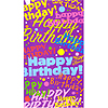 HAPPY BIRTHDAY PRINTED PARTY BAG PARTY SUPPLIES